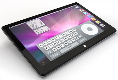 tablet con sfondo classico iOS disponibile per i prodotti Apple